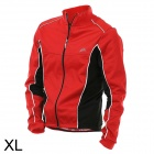 VEOBIKE Wind Proof Fleeces Cycling Clothes Coat w/ Long Sleeve for Men - Red + Black (Size XL)