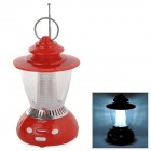 Outdoor LED White Light Camping Lamp / Lantern w/ FM Radio - Red (3 x AA)