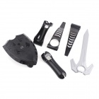 e-J YX-08 3-in-1 Sword + Shield + Bow Set for PS3 Move Fight Battle - Black + Grey