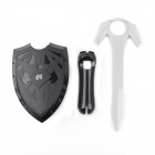 e-J YX-07 2-in-1 Sword + Shield Set for PS3 Move Fight Battle - Black + Grey
