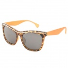 OREKA DY781 Stylish Hawksbill Pattern Frame UV400 Sunglasses - Brown + Yellow