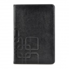 Stylish Plain Flip-open PU + TPU Case w/ Holder + Card Slot + Auto Sleep for Ipad MINI - Black