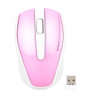 Motospeed G390 2.4GHz Wireless Optical 1000dpi Mouse - Pink + White (2 x AAA)