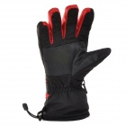Outdoor Sports Warm Full Finger Ski Gloves - Red + Black (Free Size / Pair)