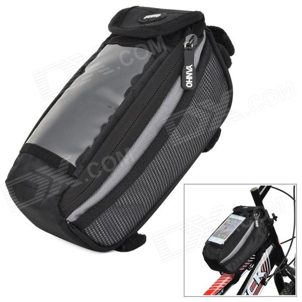 YANHO YA076  Bicycle Front Tube Bag for Touch Screen Cell Phone / GPS - Black + Grey балансир rapala w02 blm 2cm 4g