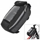 YANHO YA076  Bicycle Front Tube Bag for Touch Screen Cell Phone / GPS - Black + Grey