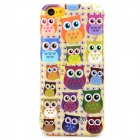 Cute Cartoon Owl Style Protective Plastic Back Case for Iphone 5C - Light Yellow + Multicolor