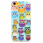 Cute Cartoon Owl Style Protective Plastic Back Case for Iphone 5C - Light Blue + Multicolor