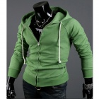 Fashionable Casual Men's Sweater Jacket Coat - Green (Size-L)
