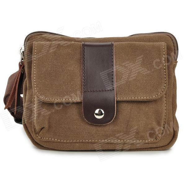 MLF MLF1015 Men's Convenient Durable Canvas Waist Bag - Coffee