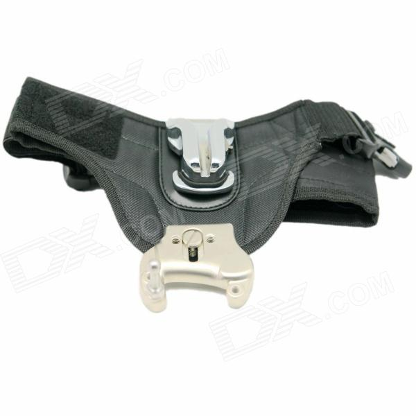 DeBo Single Camera Waist Belt Mount Button Buckle for Canon / Nikon DSLR - Black + Silver