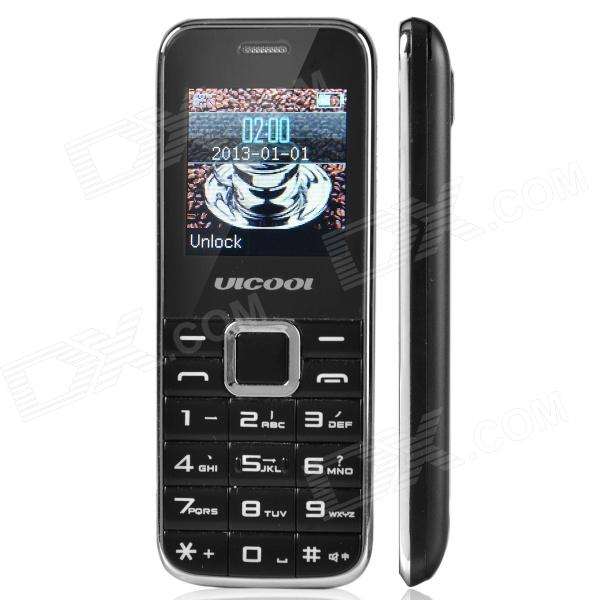 "ULCOOL Q3 Fashionable GSM Bar Phone w/ 1.4"" LCD Screen, Dual-SIM, Bluetooth and FM - Black"