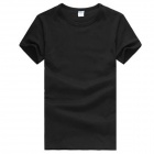 Casual Men's Cotton Short-Sleeve T-Shirt - Black (Size XXXL)
