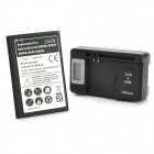 """3800mAh"" Li-ion Battery w/ 0.8"" LCD USB Charger + Adapter for Samsung Galaxy Note 3 N9000 + More"