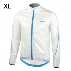 Santic MC07003 Men's Ultrathin Anti-UV Water Resistant Dacron Cycling Jacket Coat - White (Size XL)
