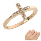 SHIYING c01340 Fashionable Women's Cross Style Alloy Ring - Rose Gold (U.S.A Size 8)