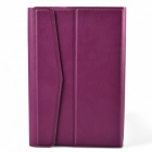 Protective PU Leather + Plastic Case Cover for 7-inch Tablet - Purple