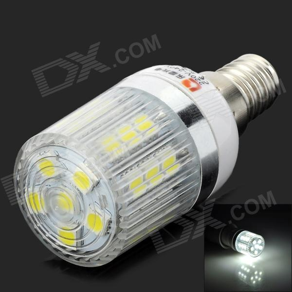 LeXing E14 3W 200lm 7000K 27-5050 SMD LED White Light Corn Lamp (220~240V) lexing lx lzd 3 e14 3w 200lm 7000k 6 smd 5730 led white light bulb 85 265v