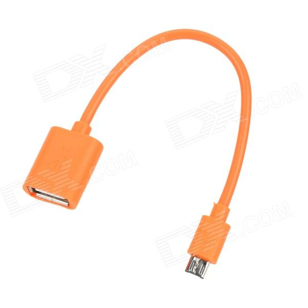Micro USB Male to USB Female OTG Adapter Cable for Samsung Smart Phone - Orange
