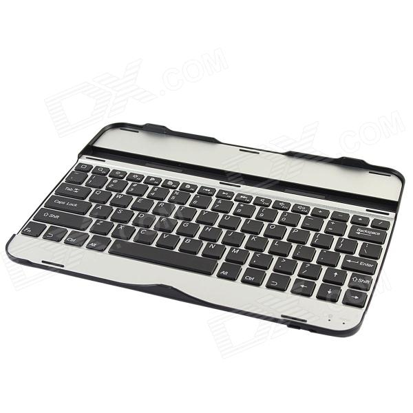 Rechargeable Wireless Bluetooth V3.0 82-Key Keyboard for Samsung Galaxy Tab 3 P5200 - Black + Silver laptop keyboard for acer silver without frame bulgaria bu v 121646ck2 bg aezqs100110