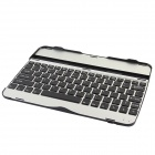 Rechargeable Wireless Bluetooth V3.0 82-Key Keyboard for Samsung Galaxy Tab 3 P5200 - Black + Silver