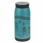 Cute World View Vacuum Cup Bottle - Green + Black (350ml)