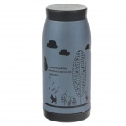 Nette Cycling Girl Vacuum Cup Bottle - Grau + Schwarz (350ml)