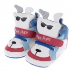 Cute Pups Style PU + Cotton Comfortable Baby Shoes - White + Blue + Black + Red (3~6 Months / Pair)