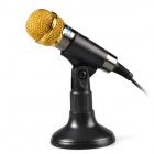 TRANSHINE PC309 Mini Dynamic Microphone w/ Stand Holder for PC / Laptop - (3.5mm Plug / 187cm-Cable)