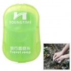 YOUNG TIME Portable Travel Hand Washing Scented Foaming Paper Soap - Green (20 PCS)
