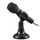 TRANSHINE PC318 Mini Dynamic Microphone w/ Stand Holder for PC / Laptop - (3.5mm Plug / 188cm-Cable)