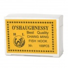 1930-10# Stainless Steel Sharp Fishing Hook - Silver (100 PCS)