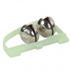 Fishing Rod Luminous Stainless Steel Alarm Bell - Silver + Green