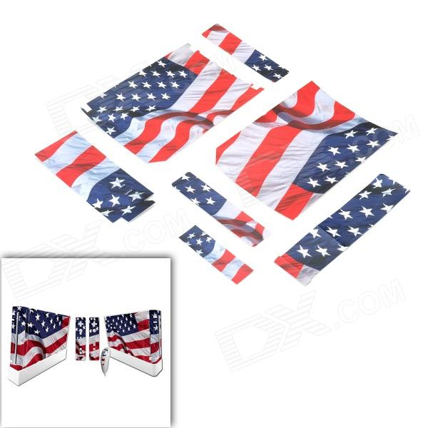 SYVIO American Flag Pattern Stickers for Wii Console / Handle - Red + White + Blue
