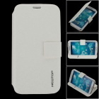 Newtop Protective PU Leather Case Cover Stand w/ Auto Sleep for Samsung Galaxy S4 i9500 - White