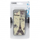 Eiffiel Tower Pattern w / Rhinestones Protector Plastic Back Case para Iphone 5C - Bege + Black