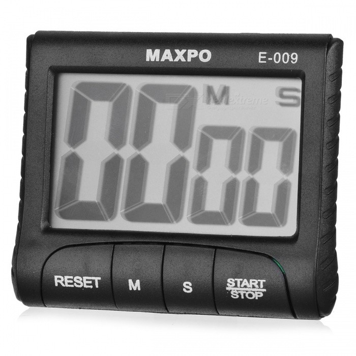 "MAXPO E-009 2.9"" LCD Kitchen Cooking Count Down Digital Timer - Black"