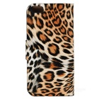 Stylish Leopard Pattern Flip-open PU + Plastic Case w/ Card Slot for Iphone 5C - Yellow + Black
