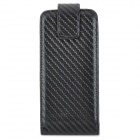Protective PU Leather + Plastic  Top-Flip Open Case for Iphone 5C - Black