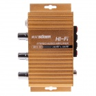 SUOER SON-8251B 180W Multifunction Stereo Car Audio Power Amplifier - Golden