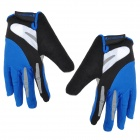 Professional Mountain Cycling Full-Finger Gloves - Blue + Black (L)