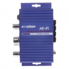 SUOER SON-7227 200W Multifunction Stereo Car Audio Power Amplifier - Blue