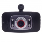 "HD-188 2.7"" LTPS TFT LCD 1.3 MP 720P HD Portable Car DVR w/ 4-IR LED / TF - Black + Silver"
