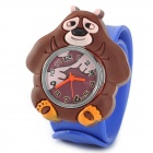 Bear Style Water Resistant Children's Quartz Wrist Watch - Blue + Brown (CR2032 battery included)