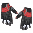 Spakct Outdoor Cycling Skull Pattern Full-Finger Breathable Gloves - Red + Black (XL)