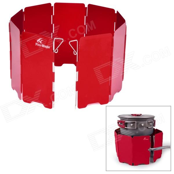 FireMaple FMW-503 Folding Aluminum Alloy Wind Shield for Camping Stove Tool - Red harlem hl10568 10 piece folding aluminum wind shield board for camping picnic burner silver