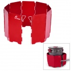 FireMaple FMW-503 Folding Aluminum Alloy Wind Shield for Camping Stove Tool - Red