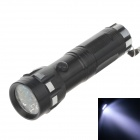 100lm 7000K 14-LED Cool White Light 1-Mode Flashlight - Black + Silver (3 x AAA Battery )