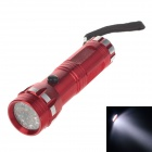 100lm 7000K 14-LED Cool White Light 1-Mode Flashlight - Red + Silver (3 x AAA Battery )