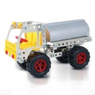 Iron Commander SM146700 Ferroalloy Assembled Tank Car Toy - Silver + Yellow + Red